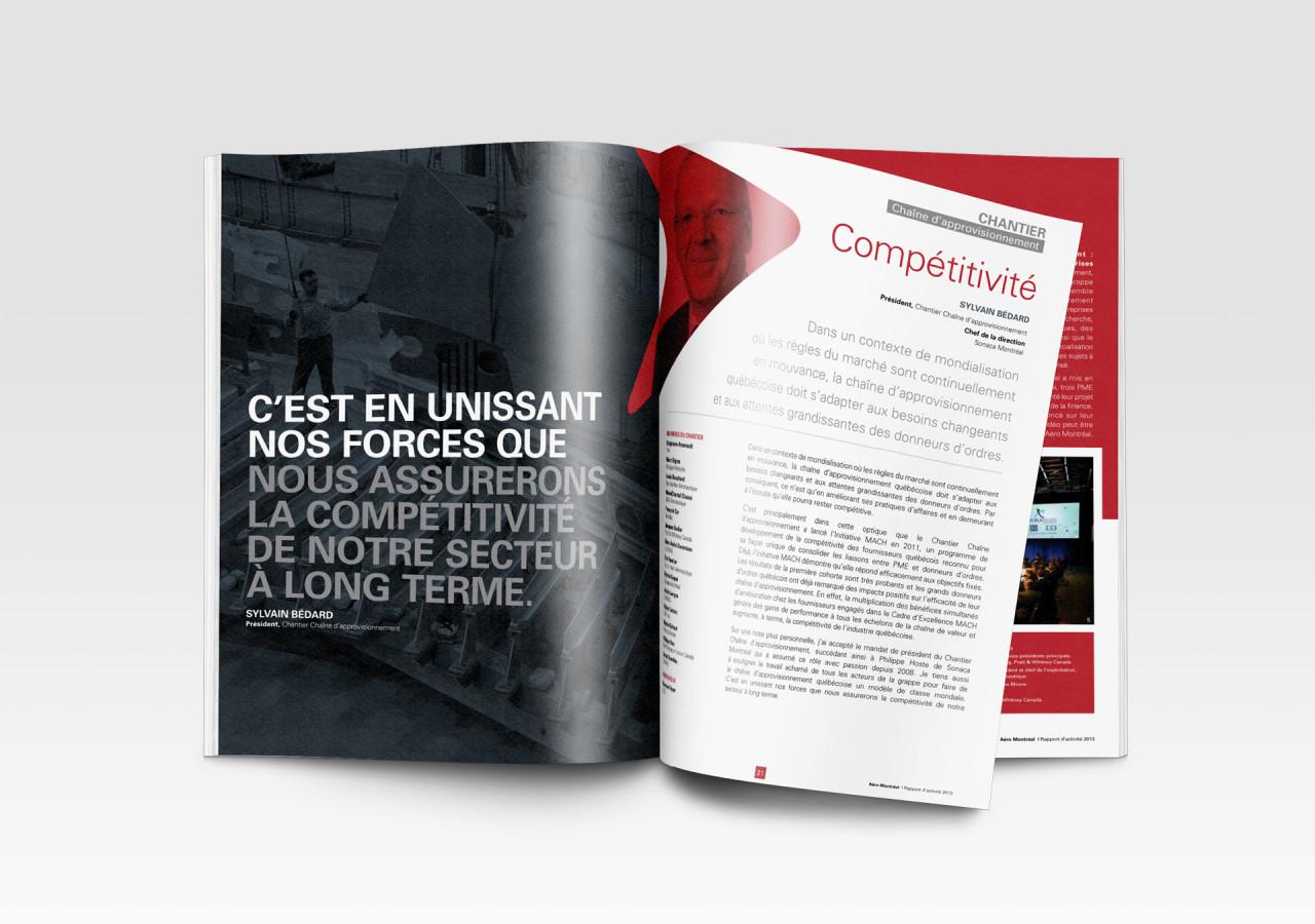 Gaspard Agence Montreal Portfolio Aéro Montréal Rapport Vers de nouveaux horizons intérieur
