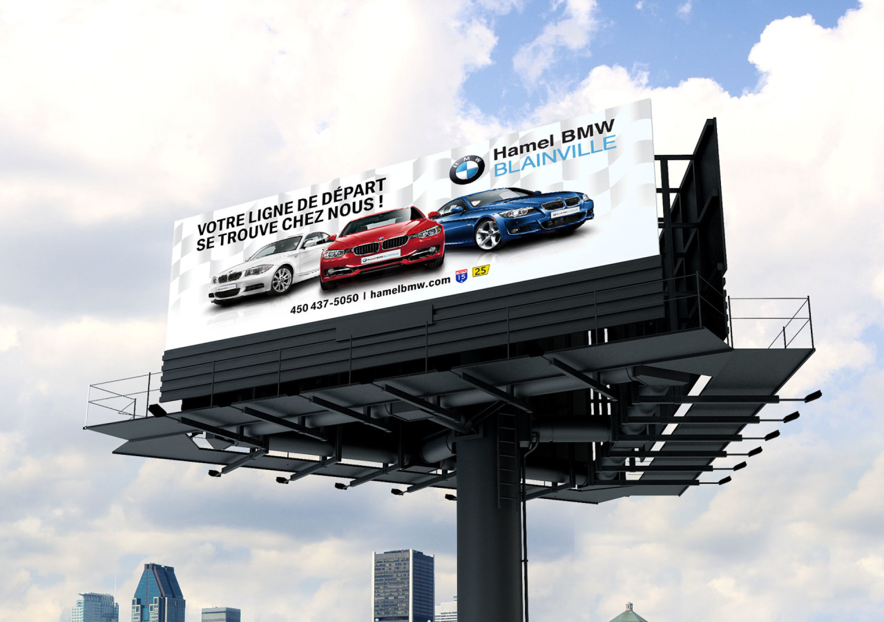 Gaspard Portfolio - Hamel BMW Billboard