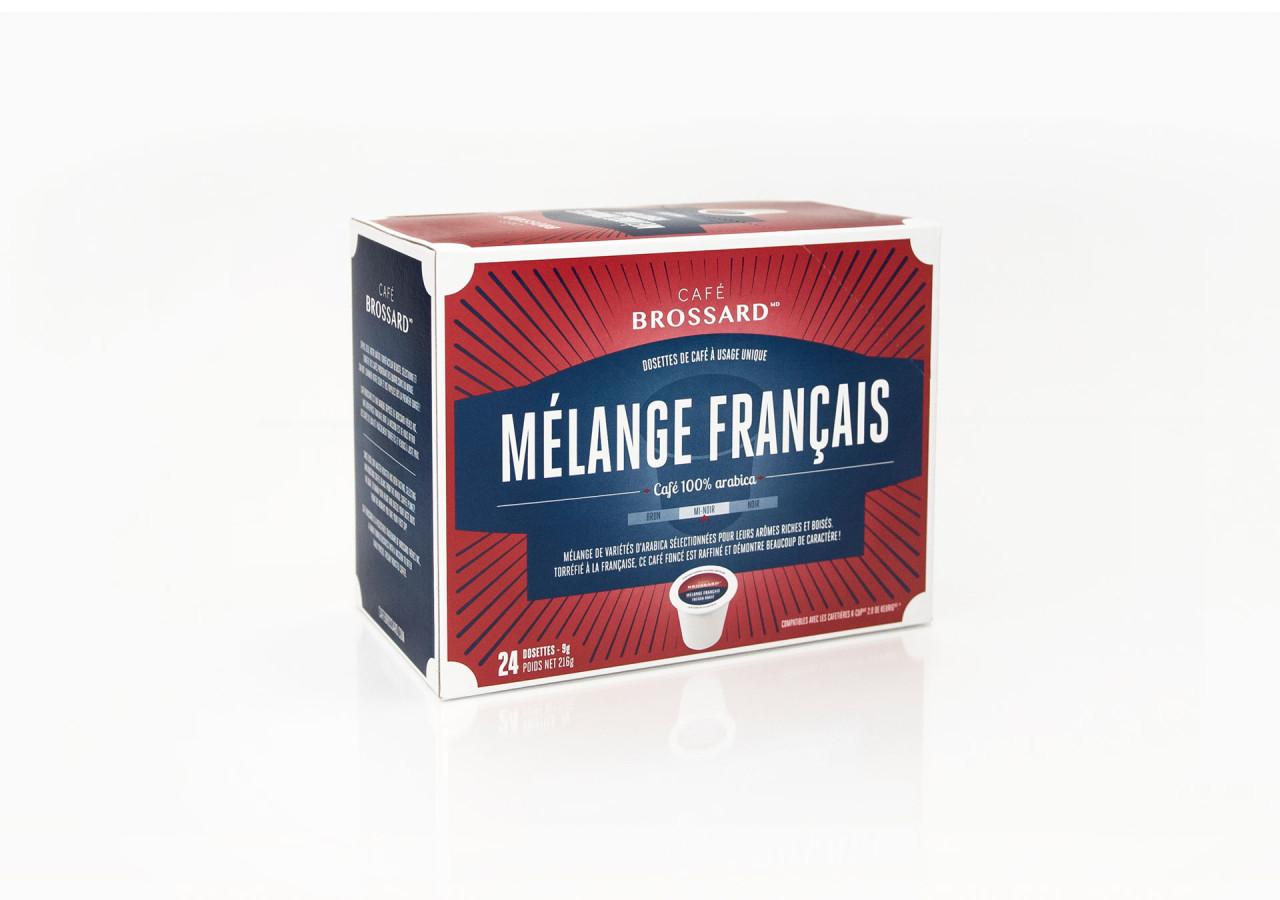 Gaspard Portfolio CafeBrossard packaging dosettes Mélange français