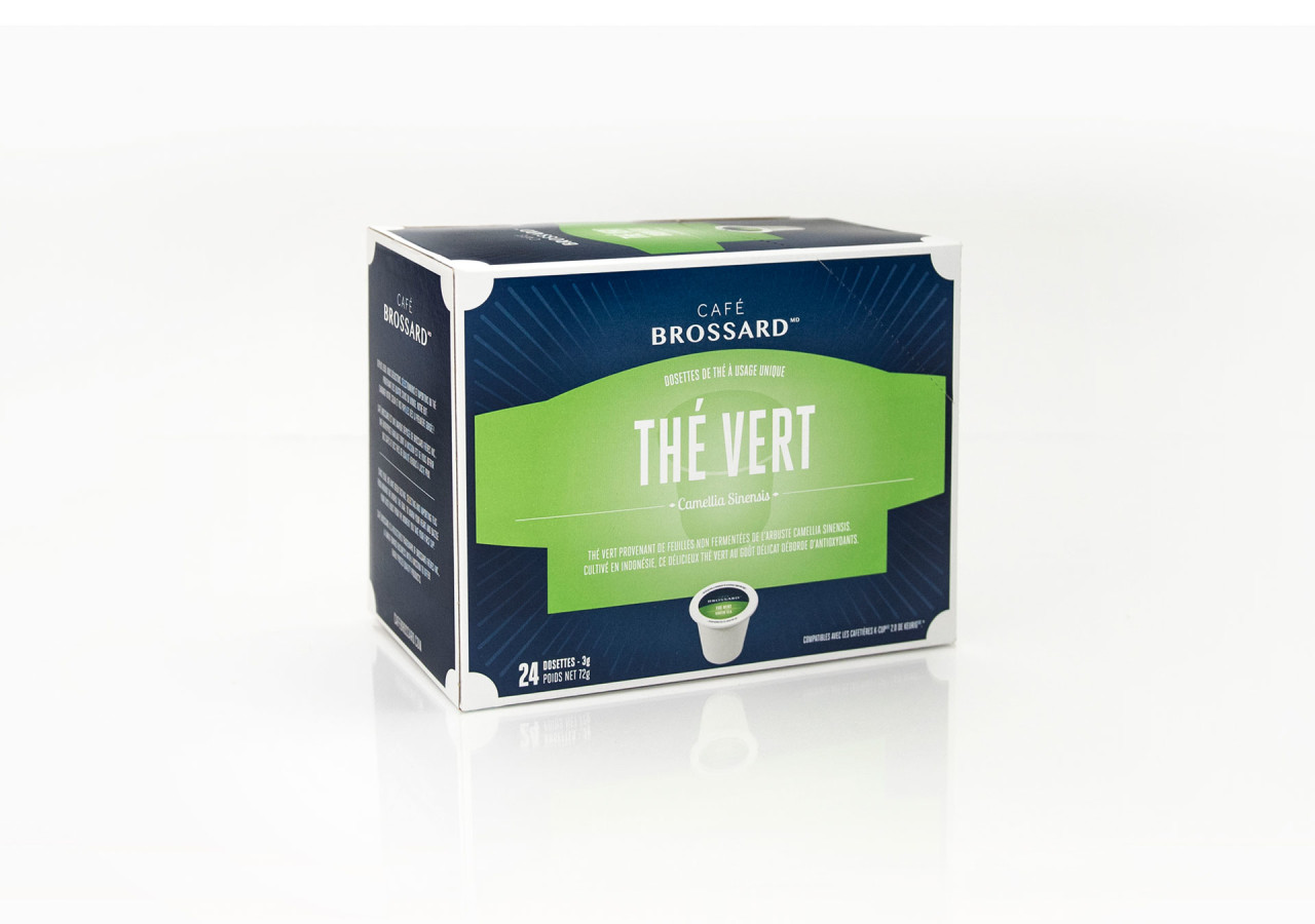 Gaspard Portfolio CafeBrossard packaging dosettes thé vert