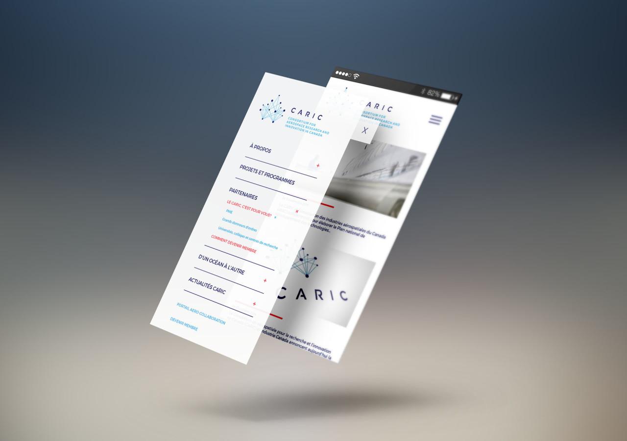 Gaspard Portfolio - Caric site web mobile