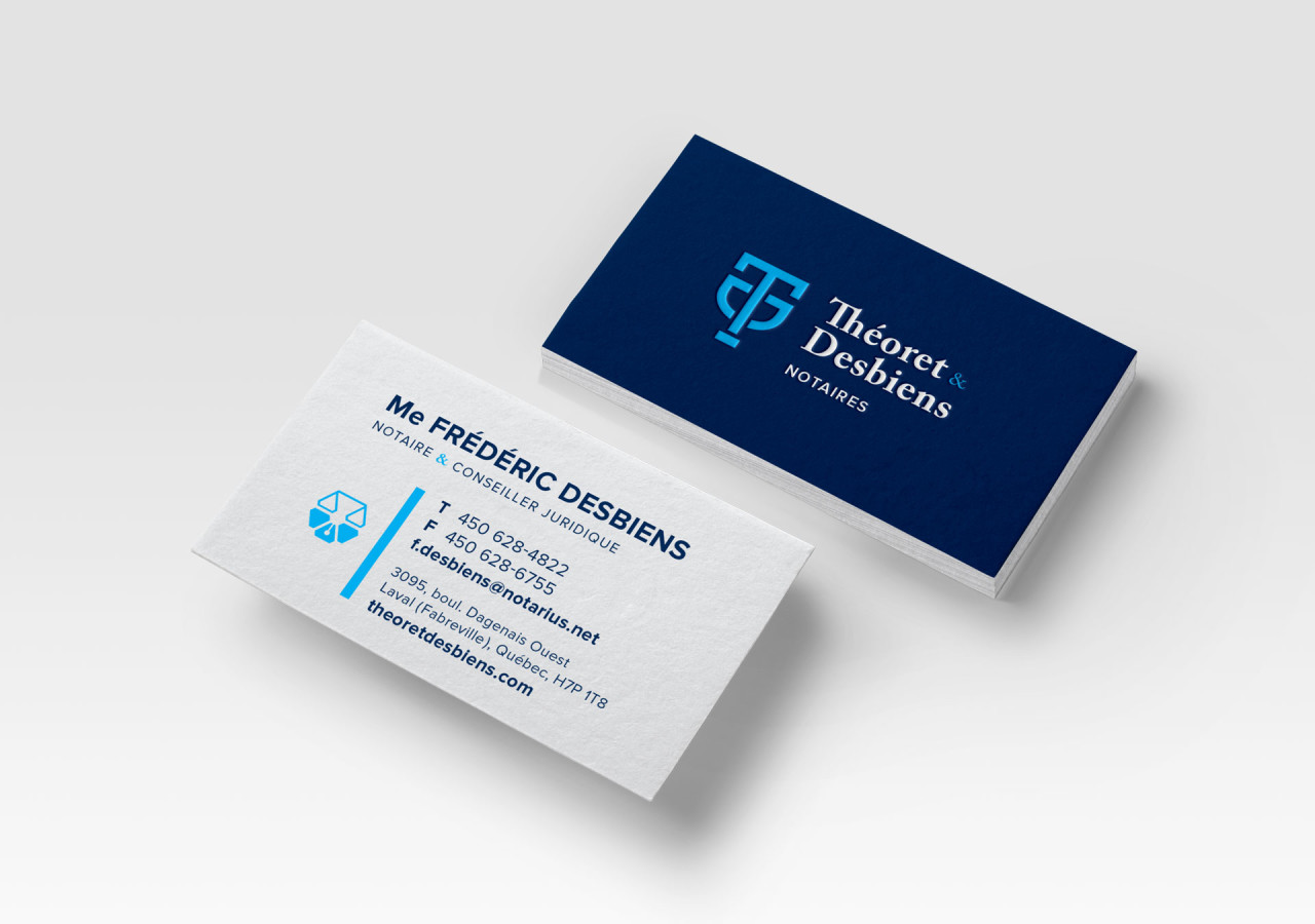 Gaspard Portfolio - Théoret & Desbiens Notaires Business Cards