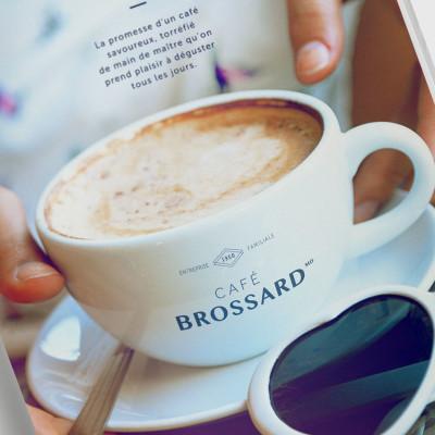 Publicités magazine Café Brossard