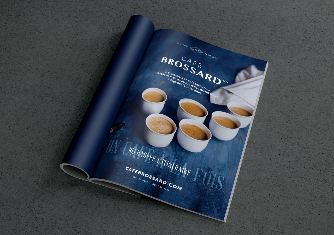Gaspard Portfolio Café Brossard publicité itinéraire