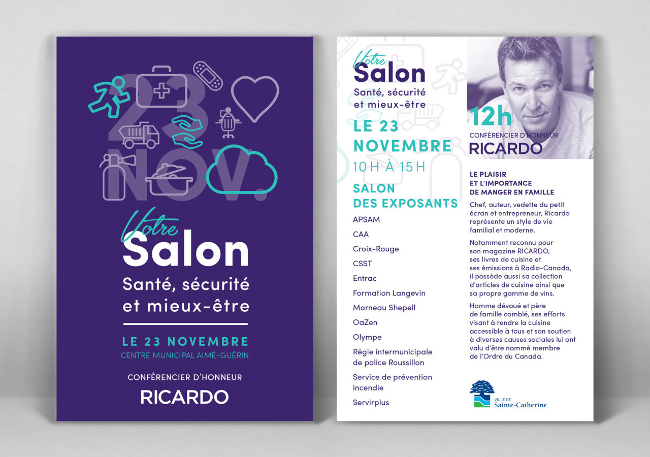 Gaspard Portfolio Flyer Salon Santé Sécurité mieux-être
