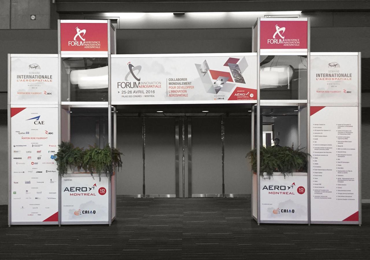 L'Agence Gaspard - Aero Montreal Forum innovation - Aero Montreal - Habillage