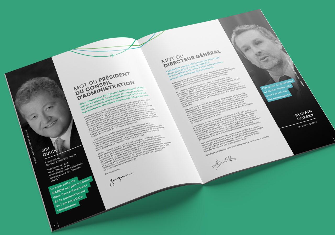 GARDN Rapport Annuel - Branding - Document - Spread