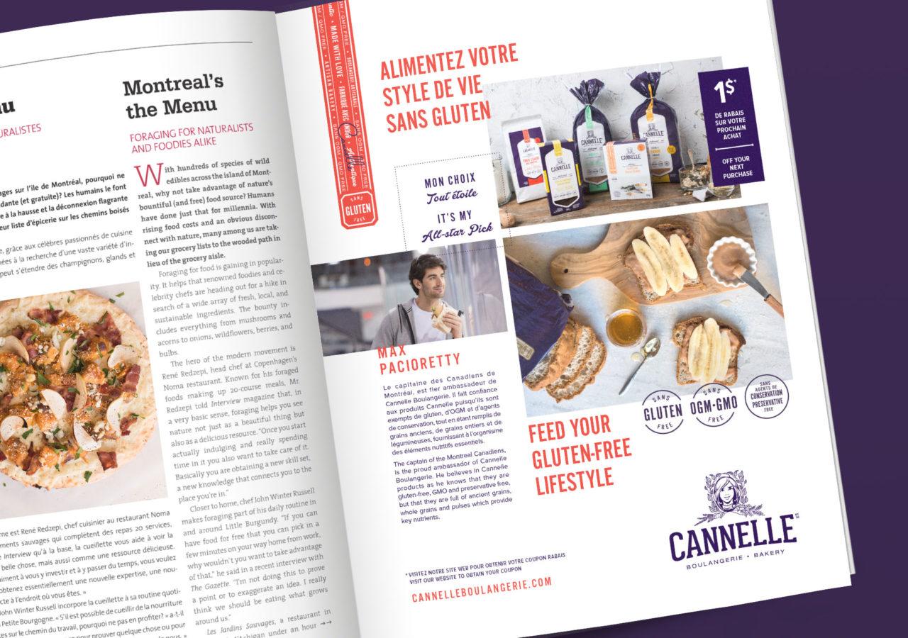 Cannelle Boulangerie - branding publicité magazine