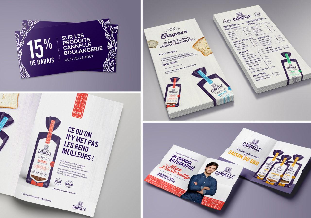 Cannelle Boulangerie - branding print impression publicités