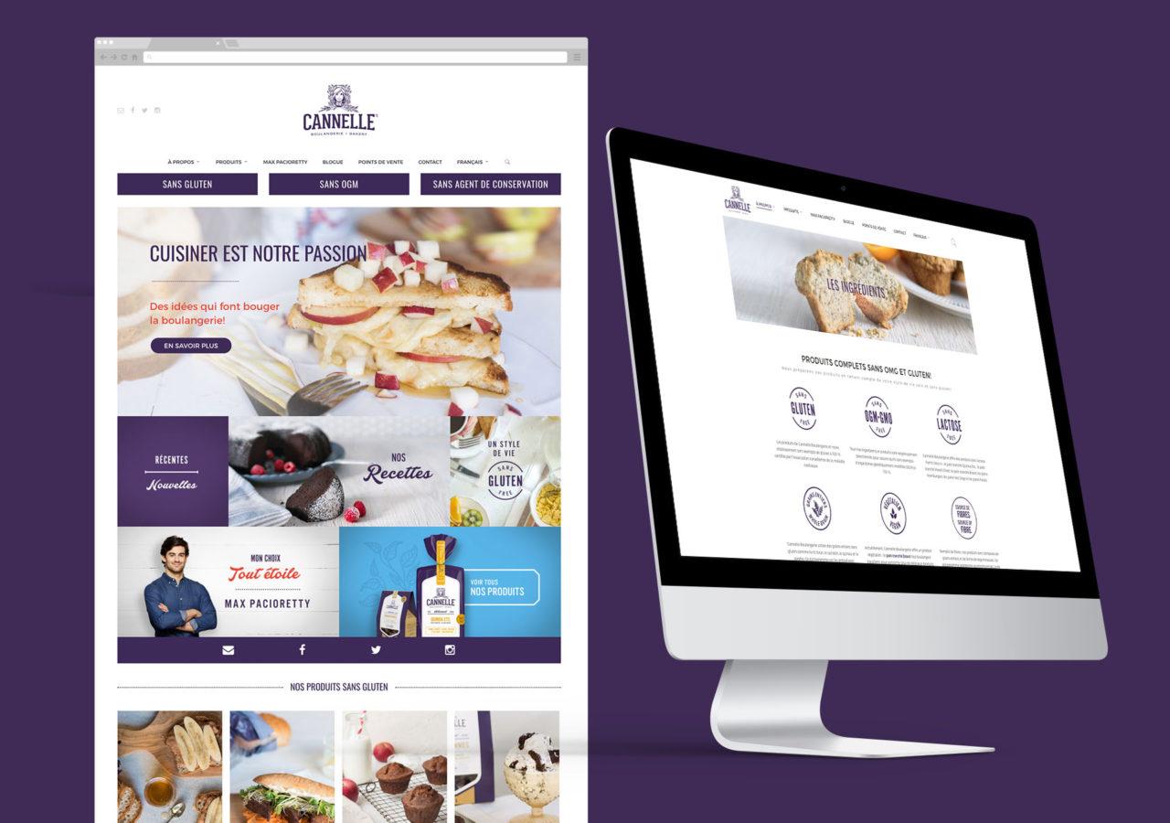 Cannelle Boulangerie - branding site web - website
