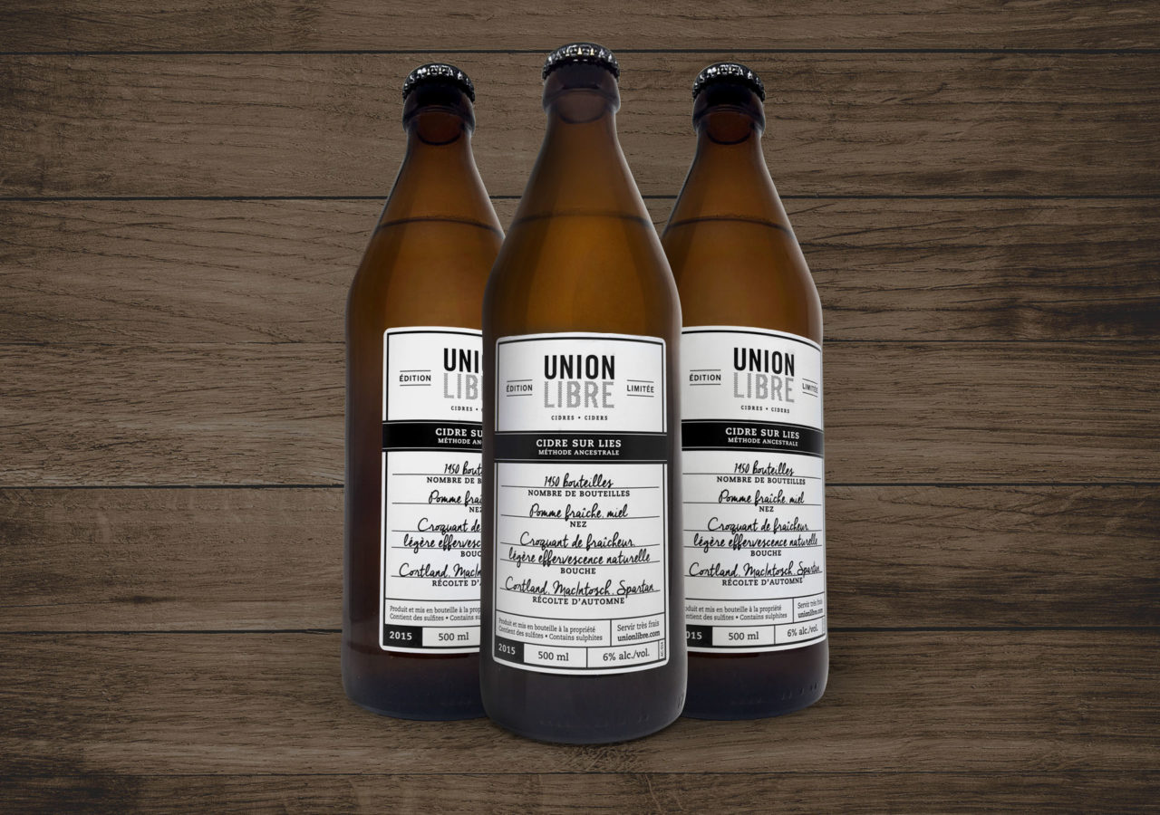 Union Libre Cidre sur lies - packaging - emballage - branding