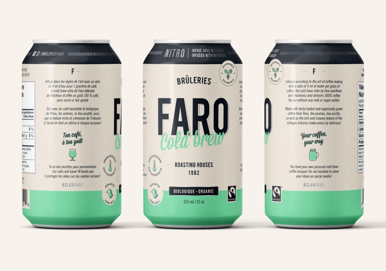 Branding - Brûlerie Faro Cold Brew