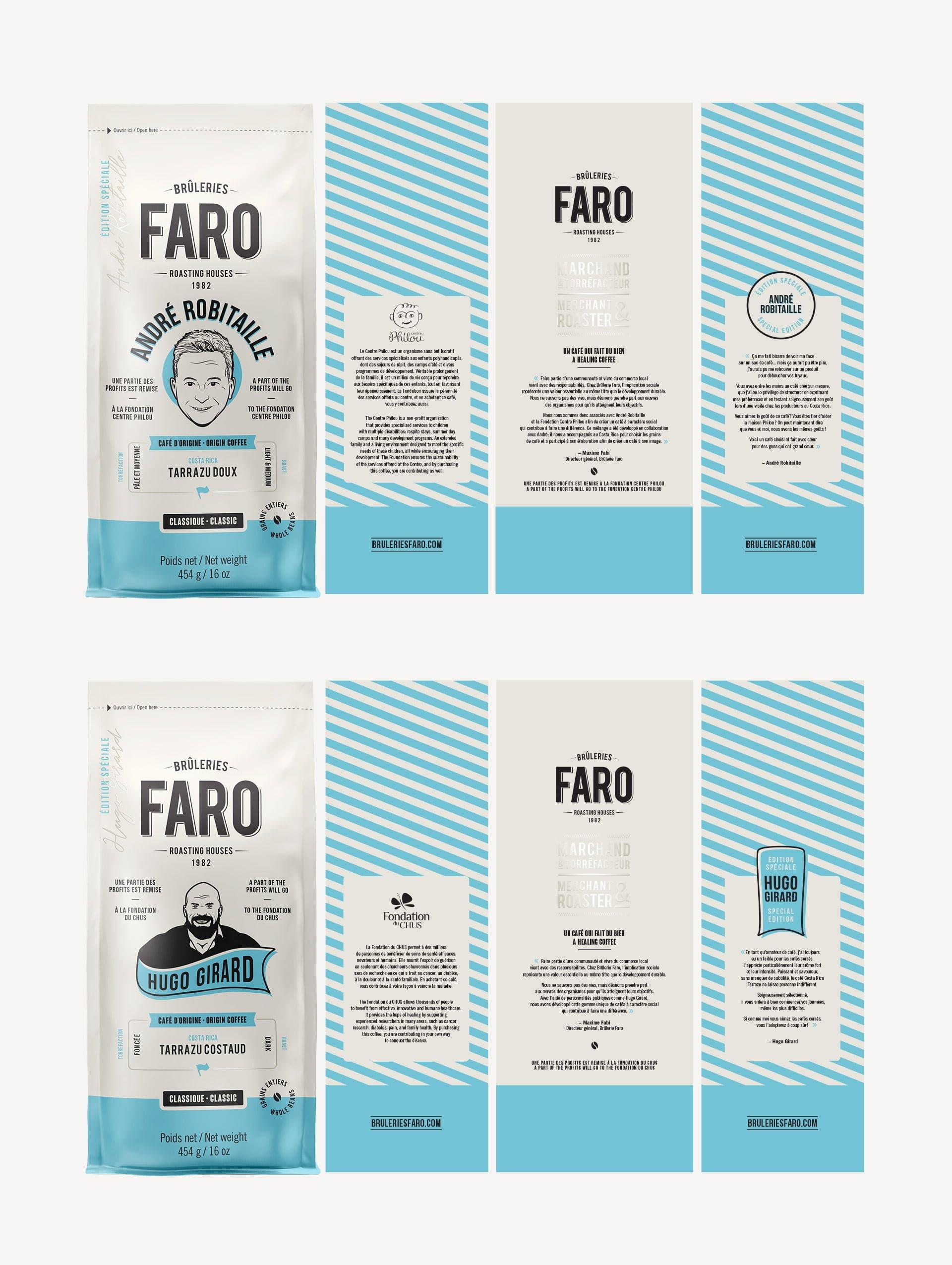 Nouvelle identité et emballage pour Brûlerie FARO