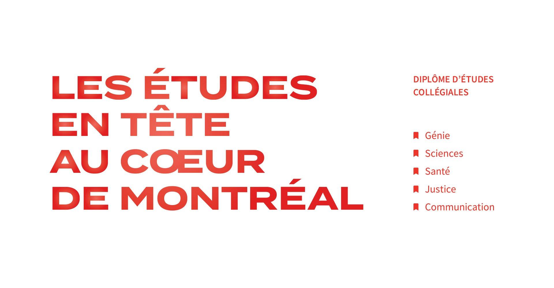 Message - Campagne Publicitaire - Demain l'avenir - Collège Ahuntsic