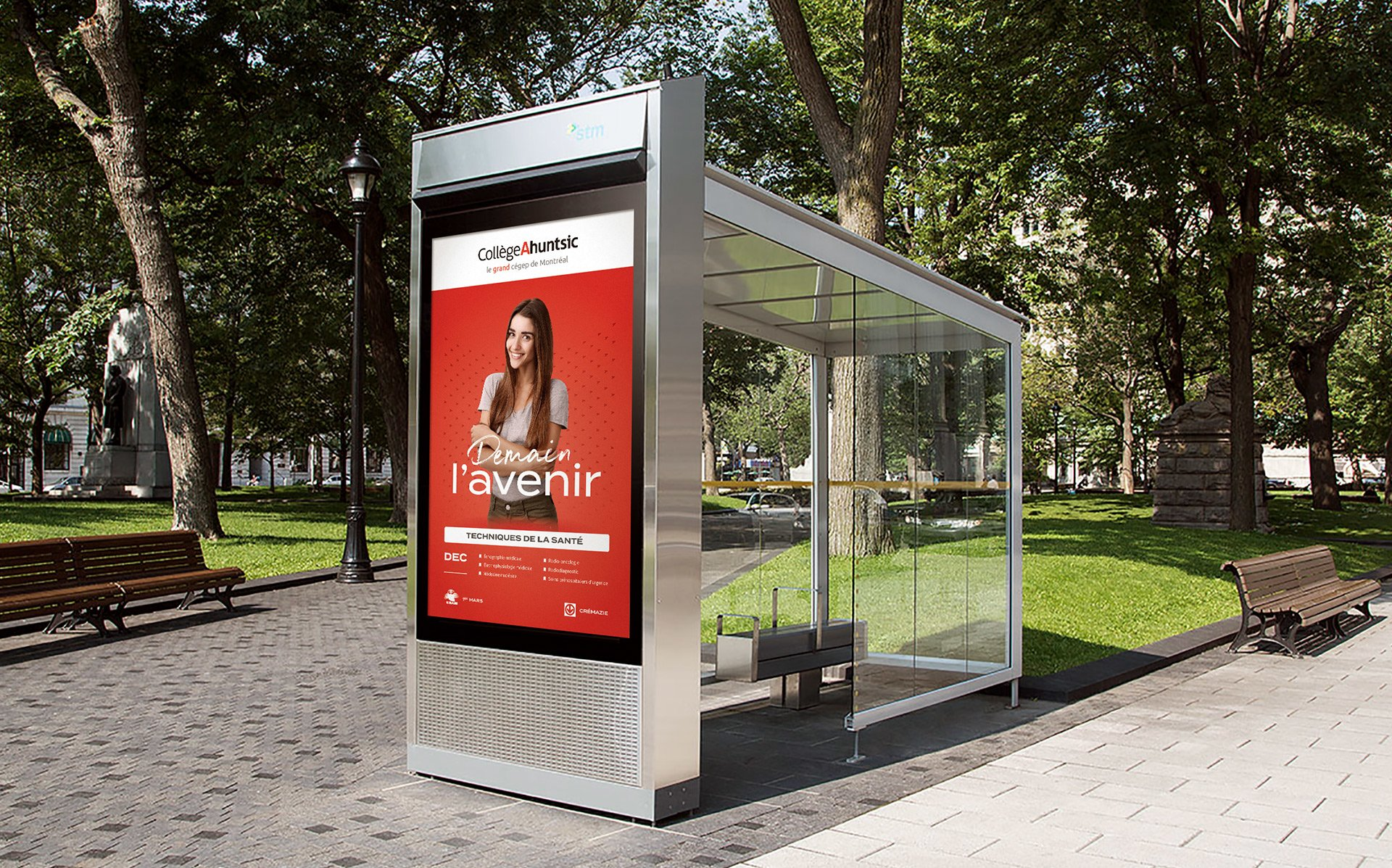 Abribus - Campagne Publicitaire - Demain l'avenir - Collège Ahuntsic