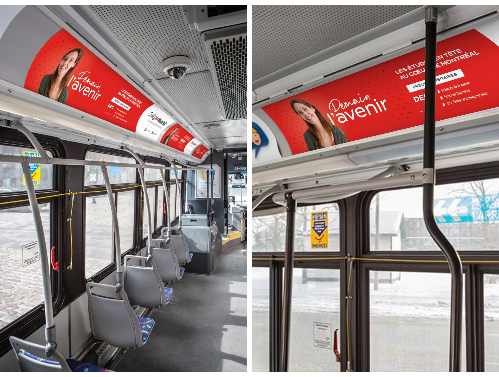 Autobus - Campagne Publicitaire - Demain l'avenir - Collège Ahuntsic