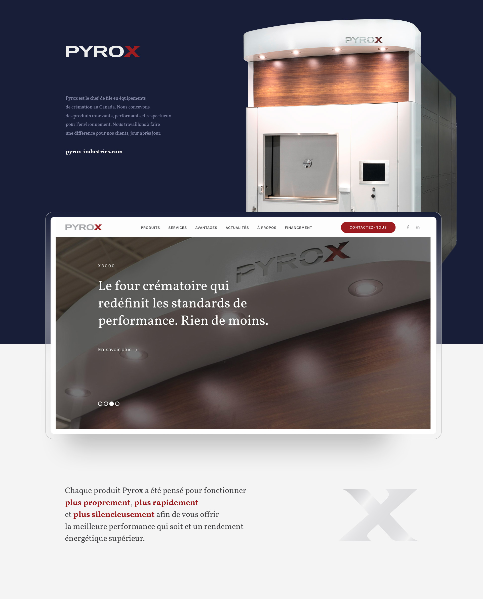 Pyrox Industries - Environnement de marque - website - site web